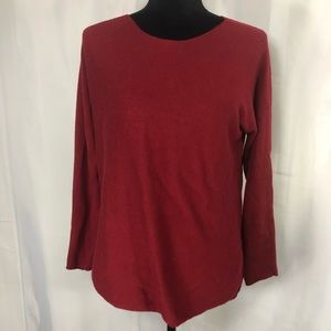 Joan Vass New York Heather Sweater Long Sleeve